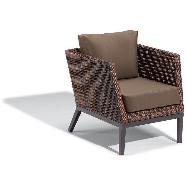 Cammack Woven Patio Chair with Cushions by George Oliver