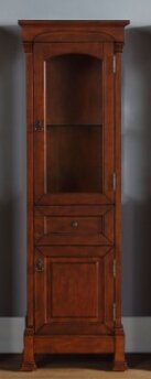Bedrock 20.5 W x 65 H Linen Tower by Darby Home Co