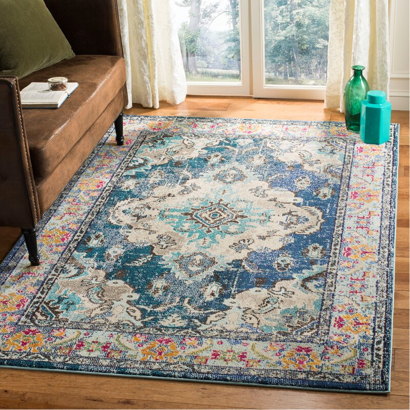 Bungalow Rose Annabel Navy Light Blue Area Rug Amp Reviews