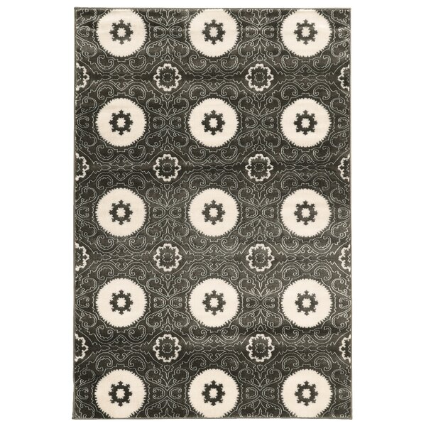 Lucinda Charcoal Area Rug by Threadbind