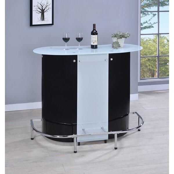 Genessee Bar With Wine Storage By Orren Ellis
