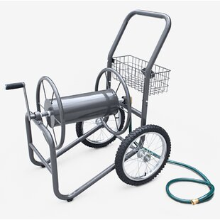 Industrial 2 Wheel Steel Hose Reel Cart. By Liberty Garden