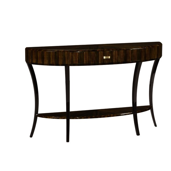 Large Demilune Art Deco Console Table By Jonathan Charles Fine Furniture