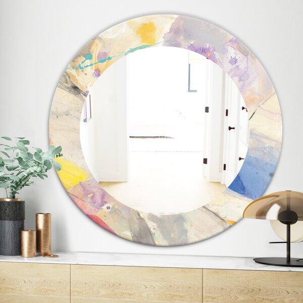 Spring Minimalist Confetti I Wall Mirror