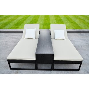 Corressa Chaise Lounge Set with Cushions (Set of 3) by Solis Patio