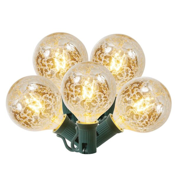 Clear Mercury Glass G50 Globe 15 Light String Lighting (Set of 10) by The Holiday Aisle