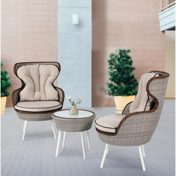 Oman 3 Piece Rattan Seating Group with Cushion by Latitude Run