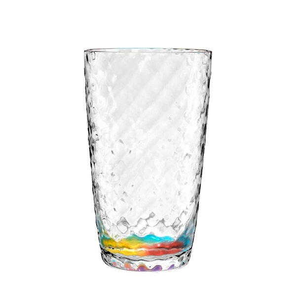 Ellicottville Kaleidoscope 13.3 oz. Plastic Everyday Glasses (Set of 6) by Bayou Breeze