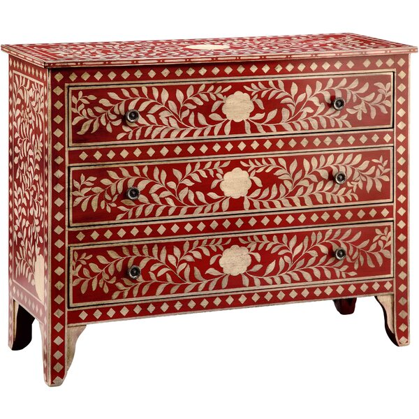 West Brookfield 3 Drawer Accent Chest By Bungalow Rose