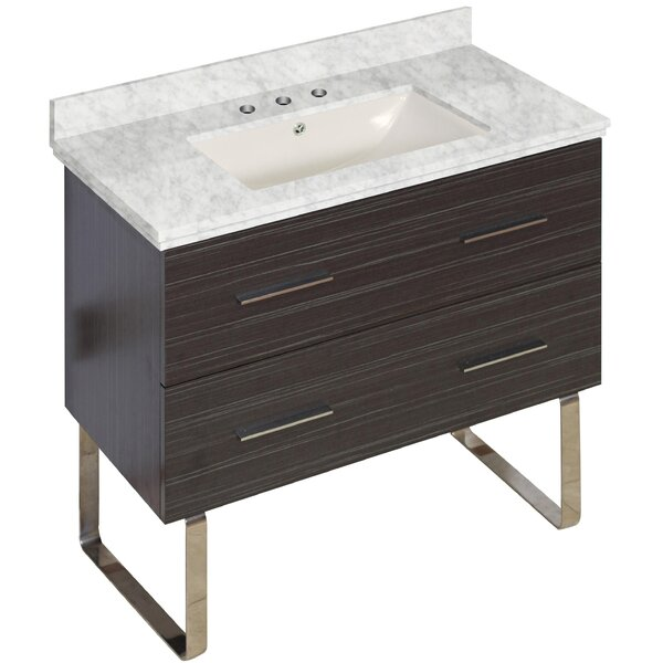 Phoebe Drilling Floor Mount 36 Single Rectangle Bathroom Vanity Set by Orren Ellis