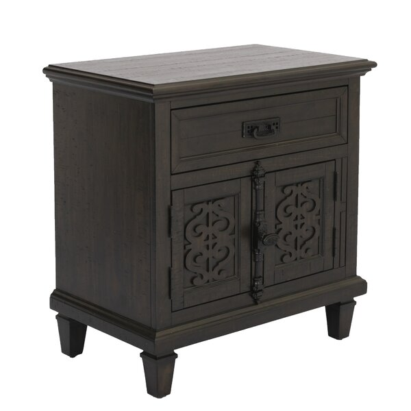 Schutt 1 Drawer Nighstand by Fleur De Lis Living