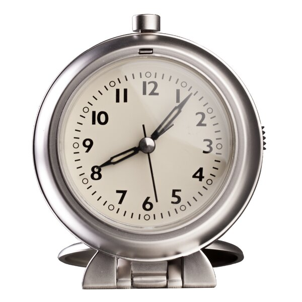 Metal Travel Alarm Tabletop Clock by Control Brand