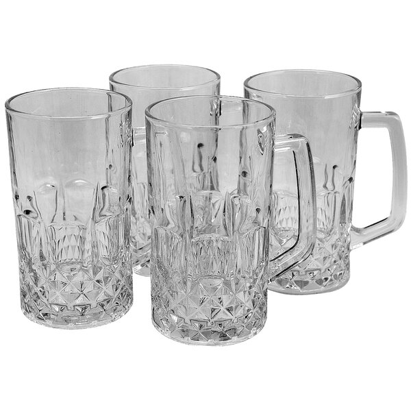 Ivan 21 oz. Glass Pint Glass (Set of 4) by Astoria Grand