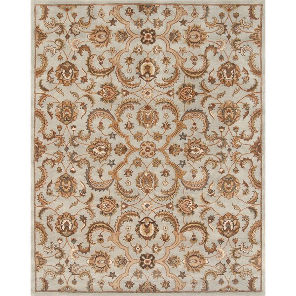 Serene Hand-Tufted Wool Light Blue/Beige Area Rug by Continental Rug Company