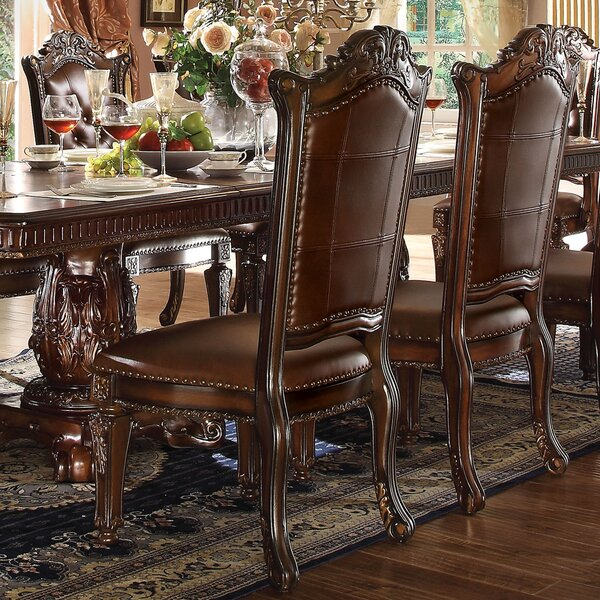 Welles Scroll Upholstered Dining Chair (Set Of 2)
