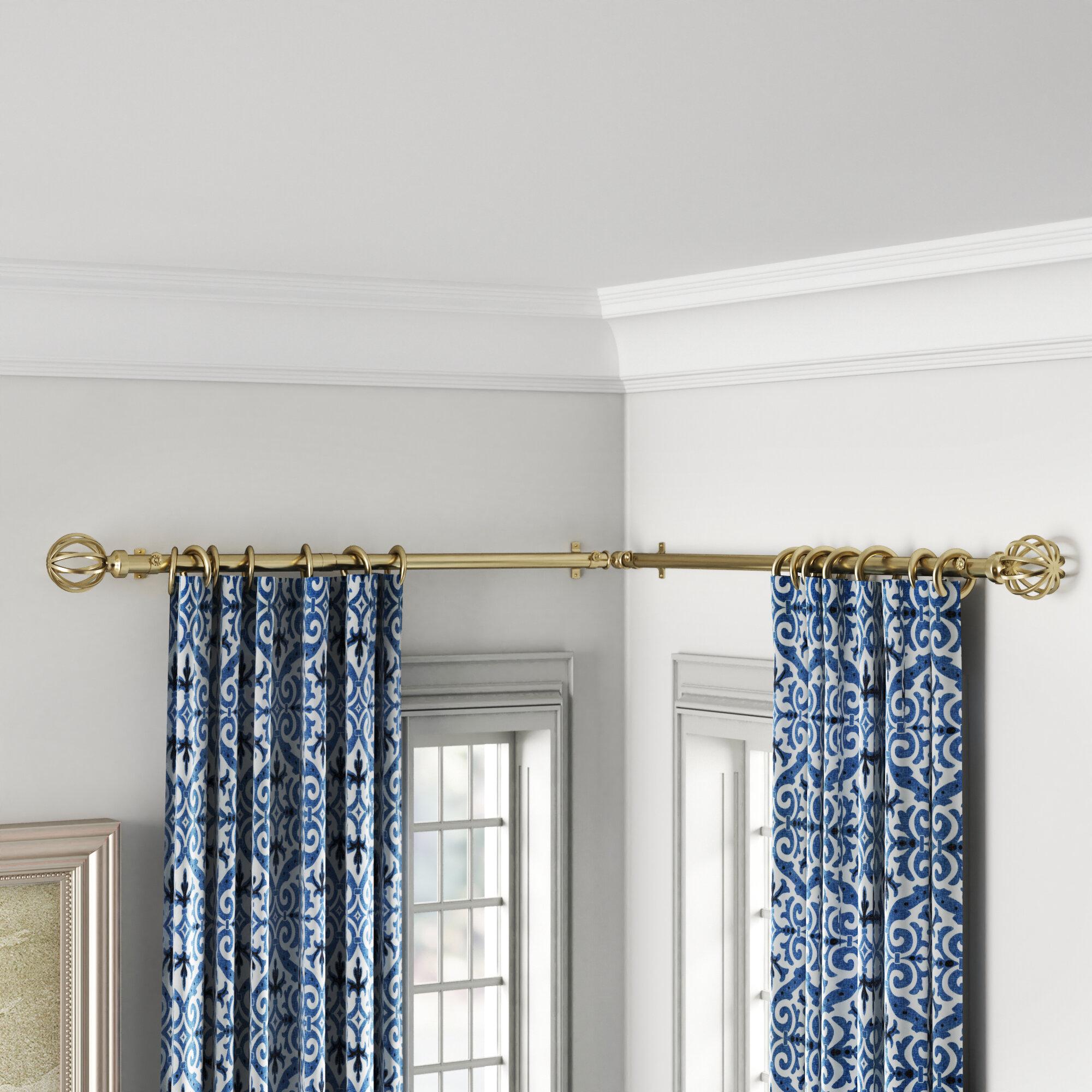 Darby Home Co Caden Corner Window Single Curtain Rod