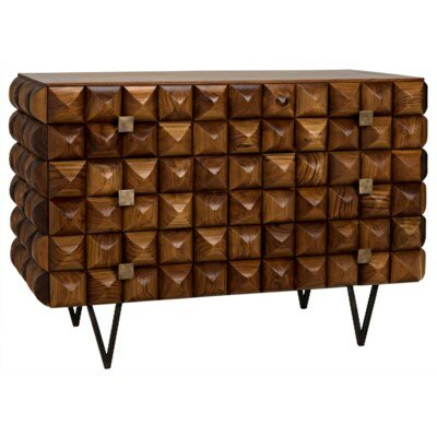 Flare 3 Drawer Dresser by Noir