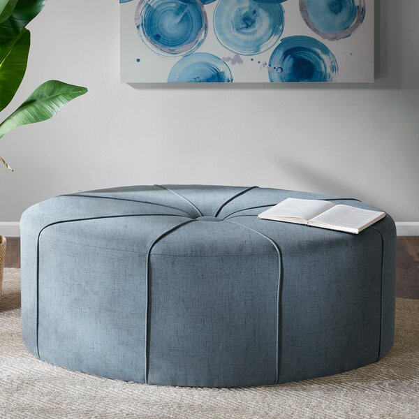 Riddle Oval Tufted Cocktail Ottoman by Latitude Run