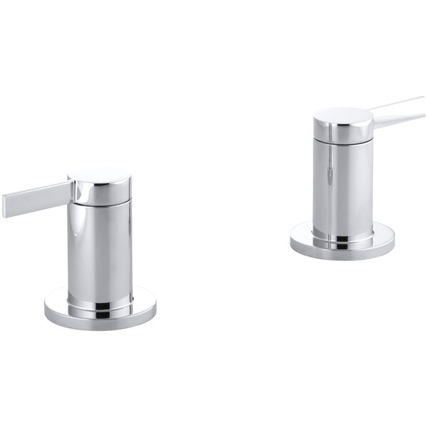 Stillness Deck- or Wall-Mount High-Flow Bath Valve Trim with Lever Handles, Handles Only, Valve Not Included by Kohler