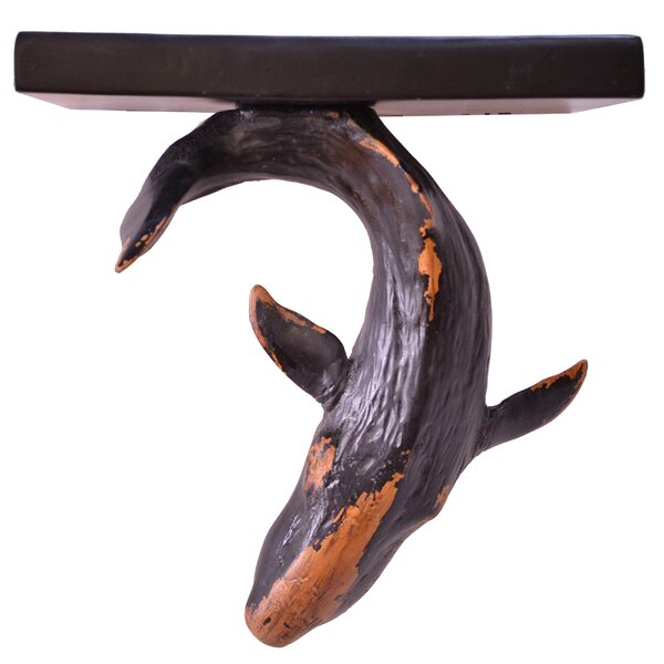 Akef Whale Tail Floating Shelf by Highland Dunes