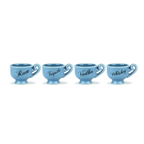 Kang Tea Party 0.85 oz. Ceramic Shot Glass (Set of 8) by Winston Porter