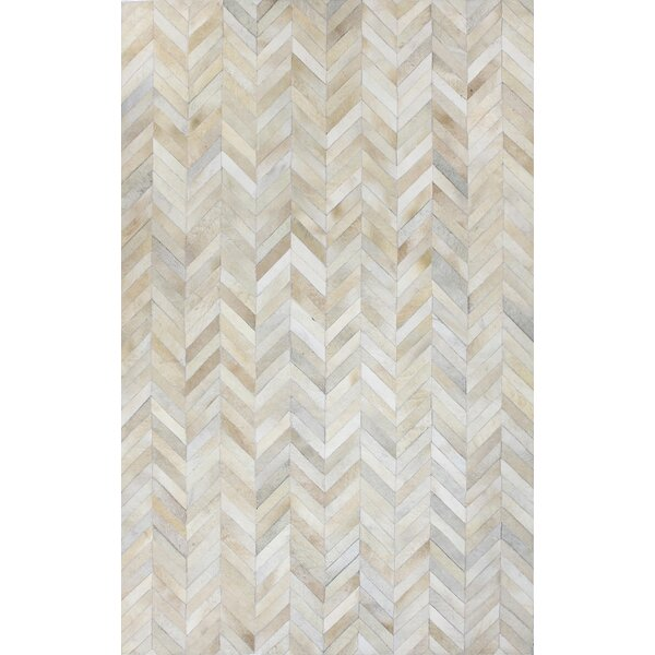 Leslie Flat woven White Area Rug by Wade Logan