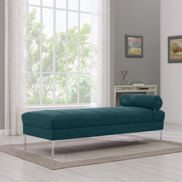 Ken Upholstered Channel Daybed with Mattress by Wrought Studio