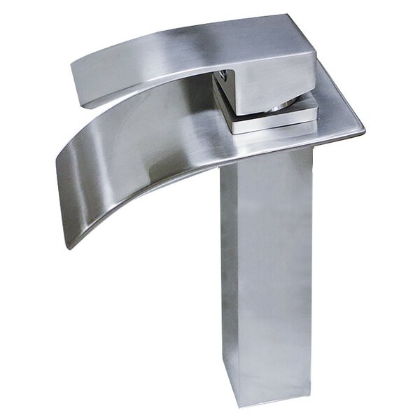 Apogee Tall Top Lever Square Vessel Faucet by Lenova