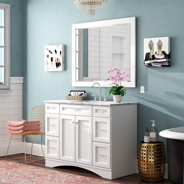 Madi 48 Single Vanity Set with Mirror by Willa Arlo Interiors