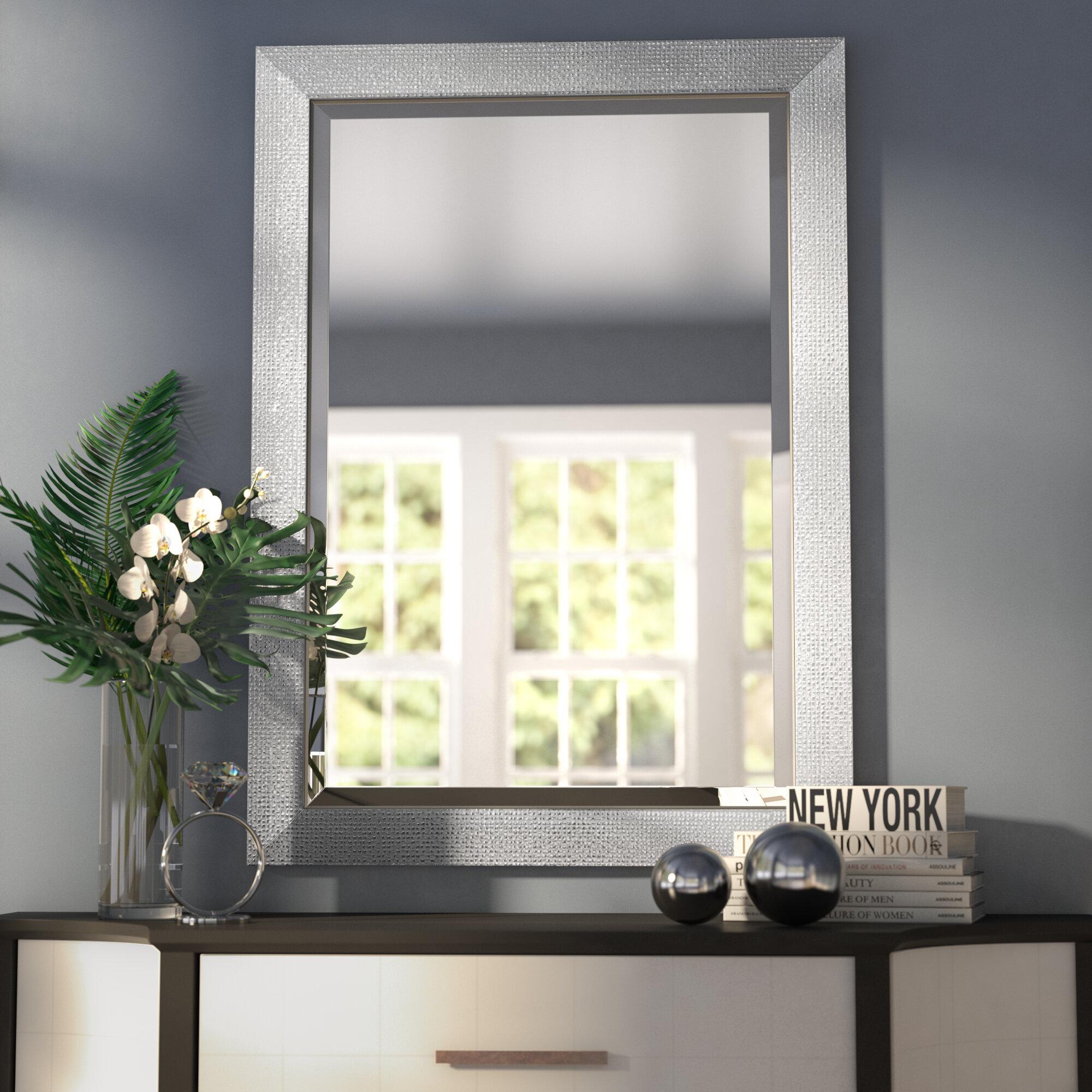 Rosdorf Park Beveled Rectangle Bathroom/Vanity Wall Mirror & Reviews ...