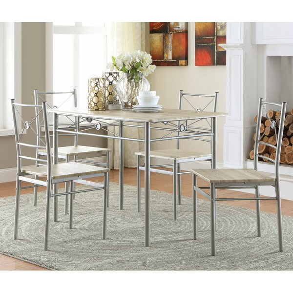 Kieffer 5 Piece Dining Set by Andover Mills