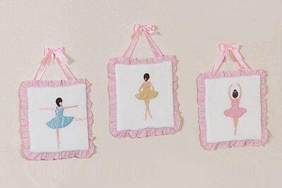 3 Piece Ballerina Wall Hanging Set by Sweet Jojo Designs