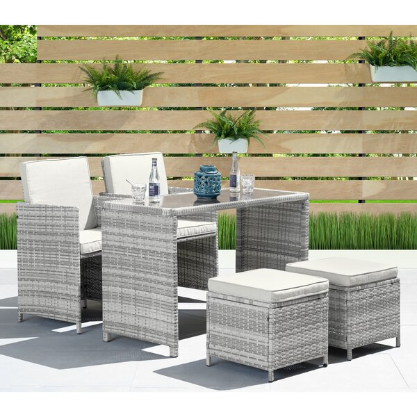 Abdiel 5 Piece Dining Set with Cushions by Brayden Studio