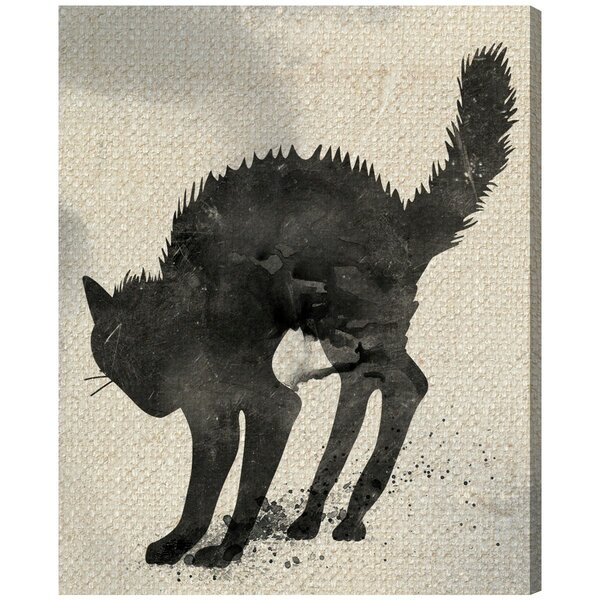 Cat Silhouette by Oliver Gal Graphic Art on Canvas by Oliver Gal