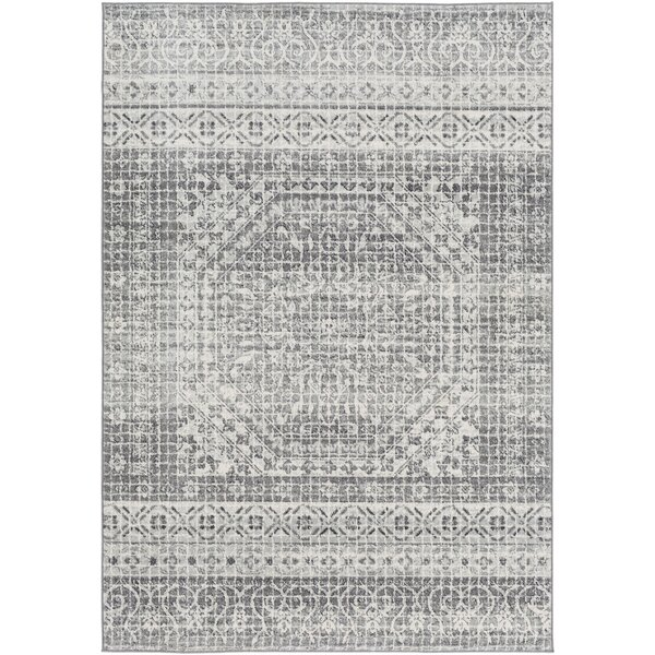 Hillsby Inspired Floral Light Gray/Charcoal Area Rug by Mistana