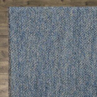 Daytona Beach Hand-Tufted Wool/Cotton Beach Hand-Tufted Blue Area Rug by Langley Street