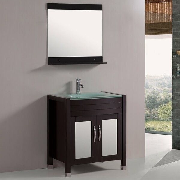 30 Single Bathroom Vanity Set with Mirror by Kokols