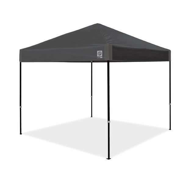 Ambassador Instant Shelter 10 Ft. W x 10 Ft. D Metal Pop-Up Canopy by E-Z UP