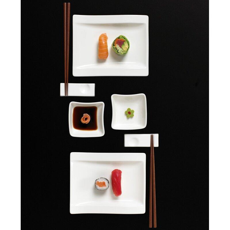 New Wave Sushi 8 Piece Dinnerware Set Service for 2  sc 1 st  Wayfair & Villeroy \u0026 Boch New Wave Sushi 8 Piece Dinnerware Set Service for 2 ...