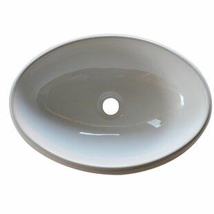 Ceramic Oval Vessel Bathroom Sink Arsumo