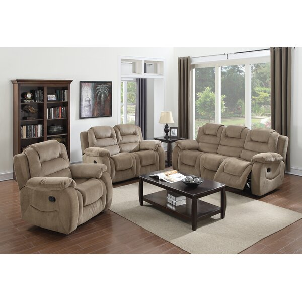 Staas Reclining 3 Piece Living Room Set by Red Barrel Studio
