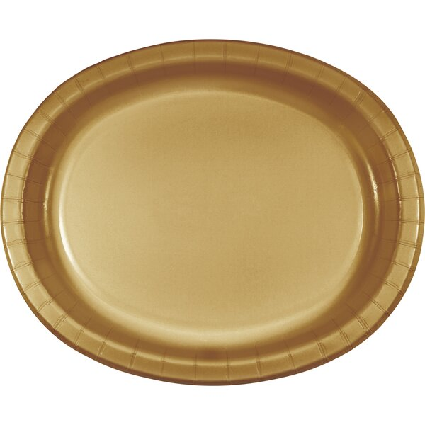 Oval Paper Dinner Plate (Set of 24) by The Party Aisle