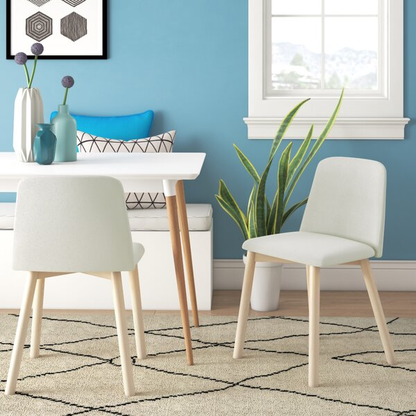 Chip Side Chair in White Leather by Blu Dot