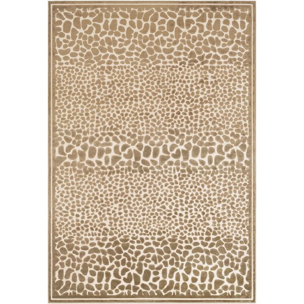 Markita Butter/Taupe Area Rug by Everly Quinn