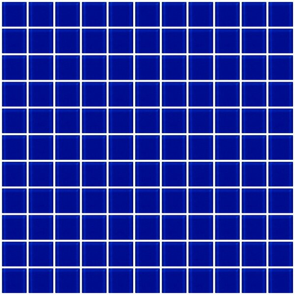 1 x 1 Glass Mosaic Tile in Glossy Cobalt blue by Susan Jablon