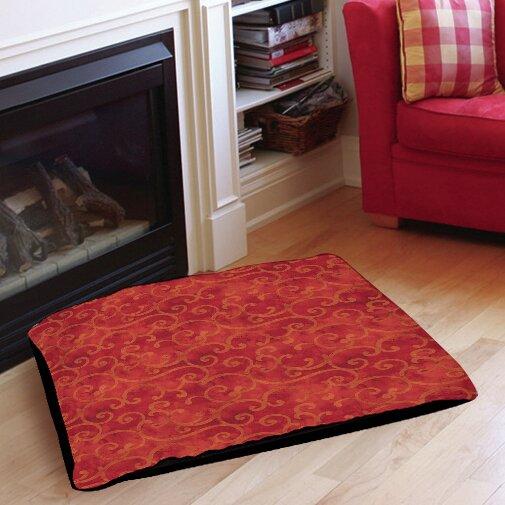 Zinnia Damask Indoor/Outdoor Pet Bed by Manual Woodworkers & Weavers