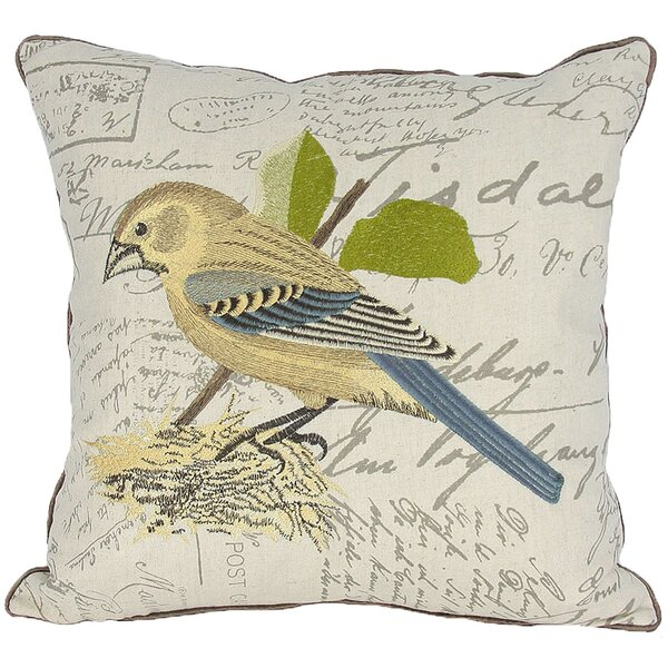 Avian Bird on Nest Throw Pillow by Manor Luxe