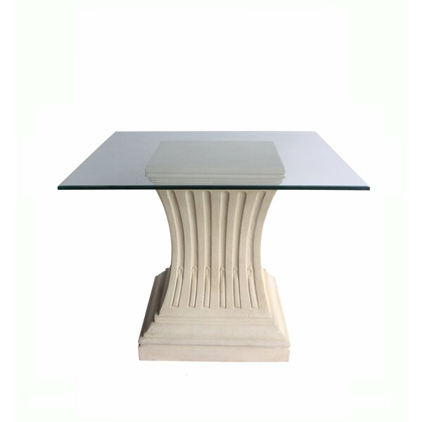 Velazquez Glass Dining Table by Astoria Grand