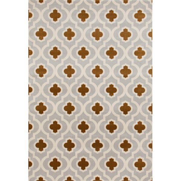 Elite Light Gray/Yellow Area Rug by World Rug Gallery