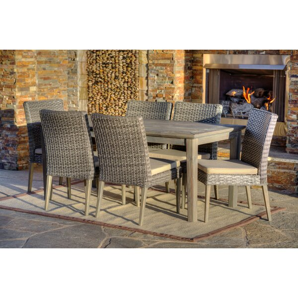 Woolard 7 Piece Patio Dining Set with Cushions by Gracie Oaks